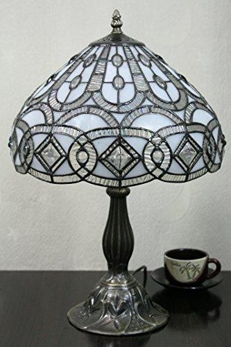 SINCERE@ 12-Zoll- Weinlese - Pastoral Glasmalerei Tiffany Tischlampe Schlafzimmer Lampe Nachttischlampe -