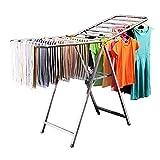 Secadoras de ropa independientes Estanterías robustas y resistentes para ropa larga, especialmente secadoras de hoja estrechas para puertas estrechas