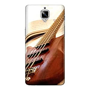 CrazyInk Premium 3D Back Cover for Oneplus 3T - Wood Guitar