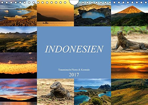 Indonesien - Inselparadies Flores & Komodo (Wandkalender 2017 DIN A4 quer): Landschaft und Natur aus dem indonesischem Inselparadies Flores & Komodo (Monatskalender, 14 Seiten )