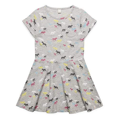 ESPRIT KIDS Mädchen Knit Dress Kleid, Silber (Heather Silver 223), Herstellergröße: 92+
