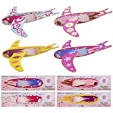 6 x Children Kids Pretty Girls Pink Flying Fairy Gliders Planes Party Bag Filler Toy