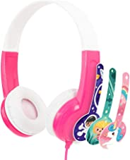 BuddyPhones CO-PINK-01-K Connect On-Ear Wired Headphones For Kids - Pink