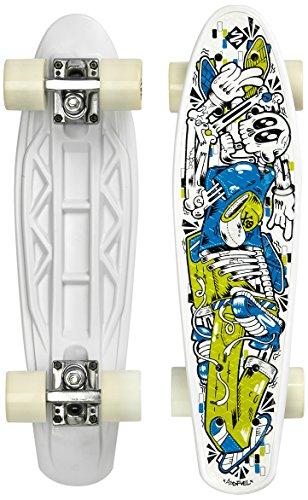 Streetsurfing Street Surfing Skateboard Design: Skelectron Fuel Board, Schwarz, 55 cm (Street Board Skateboard)