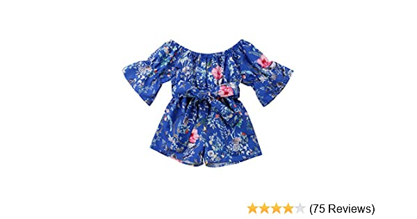 Short Pants Outfits Sets HBER 0-24M Baby Toddler Girl Summer Clothes Floral Off Shoulder Tank Tops