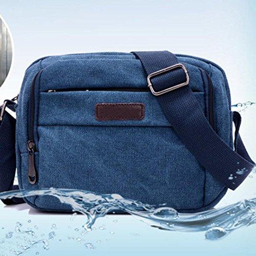 Borsa sportiva Canvas, Unisex Fashion Canvas borsa borsa a tracolla all'aperto Sport Bag di Kangrunmy Blu