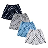 #2: The Cotton Company Men's Cotton Printed Boxer Shorts - Pack of 4 - Motorcycle