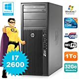 HP Workstation Z210 Tour Core I7-2600 3.4Ghz 32Go Disque 1To Graveur W7 WiFi