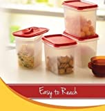 Tupperware Within Reach Canister 1.2Ltr Set Of 4Pcs