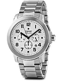 Esprit Herren-Armbanduhr XL Rondo Chrono Silver Chronograph Edelstahl ES102751005