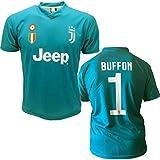 Juventus maglia BUFFON 1 replica prodotto ufficiale 2017/18 autorizzato JJ F.C. (bambino 2 4 6 8 10 12 anni) adulto (S M L XL) (TAGLIA S)