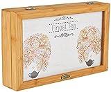 Levivo Tee Geschenk, edle Bambus-Teebeutelbox mit 32 Teebeuteln, 8 verschiedene Sorten