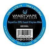 VandyVape Superfine MTL SS316L Fused Clapton Wire