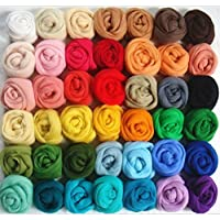 ROSENICE Lana de fieltro Hilo de lana 36 colores para Afieltrar mano Spinning DIY
