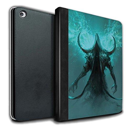Chris Cold Offiziell PU-Leder Hülle/Case/Brieftasche für Apple iPad Air 2 Tablet/Getarnte Teufel Muster/Dunkle Kunst Dämon Kollektion Mobile Skin