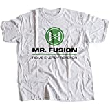 9036w Mr Fusion Herren T-Shirt Hill Valley Biff Co Flux Capacitor Emmet Brown Scooter(Small,White)