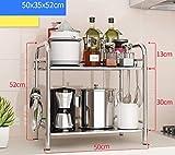FuweiEncore Küchenregal Küchenregal Mikrowellenherdregale Edelstahlregale Küchenzubehör Lagerregale Rackregale Küchenregale (Farbe : -, Größe : -)