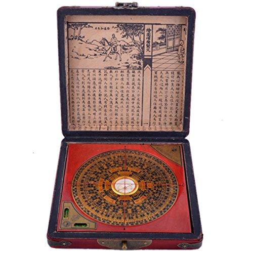 Chinesische Feng Shui chinesischer Drache & Phönix Kompass Luo Pfanne Werkzeug + kostenloser Mxsabrina mit roter Schnur Armband G1322 (Chinesische Rote Schnur Armband)