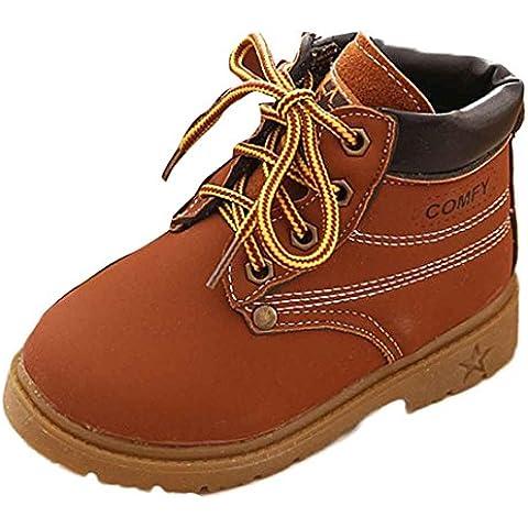 Koly Sin Adición de algodón, Bebé Niño del ejército del estilo Martin botas, zapatos calientes del invierno (25,