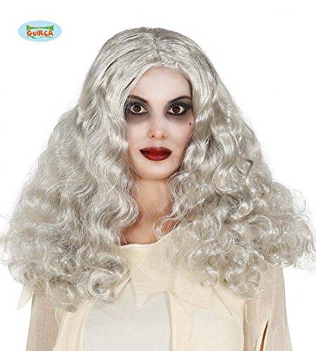 Parrucca bianca, lunga, mossa, da bambola assassina