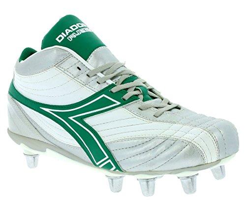 Diadora Rugby Hi R SC 8 Schuhe Herren Rugby-Schuhe Sportschuhe Silber 145240 01 C1971