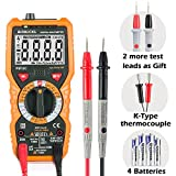 Multimeter Janisa PM18C Digital Multimeter Messgeräte Digitales Voltmeter Amperemeter Ohmmeter 6000 Counts True RMS cat iii 1000V Messgerät für AC DC Spannug Strom Widerstand Kapazität Frequenz usw