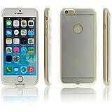 iProtect Qi-kompatible induktive TPU Schutzhülle Apple iPhone 6 Wireless Charging Hard Case in silber und transparent