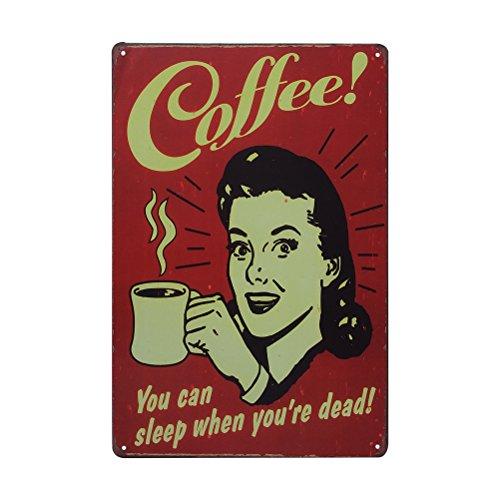 Kaffee Vintage Dekorative Zeichen Zinn Metall Eisen Auto Zeichen Malerei Für Wand Home Bar Coffee Shop (Stil 88) (Zeichen Vintage-kaffee)
