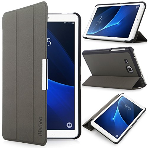 iHarbort® Samsung Galaxy Tab A 7.0 Hülle - Ultra Slim Leder Tasche Hülle Etui Schutzhülle Für Samsung Galaxy Tab A 7.0 Zoll SM-T280 SM-T285 Case Cover Holder,(Galaxy Tab A 7.0, Grau)