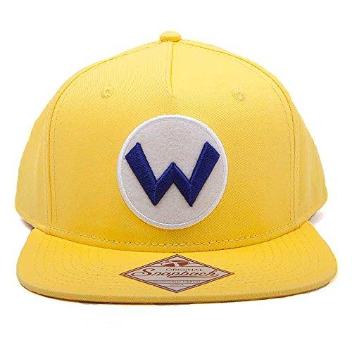 Super Mario sb092401ntn Nintendo Wario Logo Snapback Cap (One Size)
