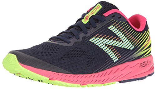 New Balance W1400v5, Zapatillas de Running para Mujer, Azul (Dark Denim/bright Cherry), 39 EU