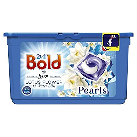 Bold Bio 2-in-1 Pearls Washing Capsules White Lily and Lotus Flower - 3 x 38 Pack (114 Washes)