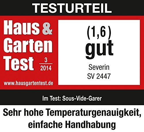 Severin SV 2447 Sous-Vide Garer, 6 L, 550 W, edelstahl gebürstet, schwarz - 8