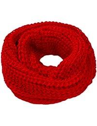 TININNA Mode Féminine Tricot à Crochet Hiver Chaud 2 Infinity Cercle Tricot  Torsadé à Col Bénitier cf24ce018b7