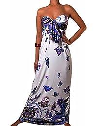 Damen Angela Bandeau Knoten Büste Maxi Kleid, Größen EU 36-50, Farbauswahl