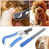 Wized-pet zampa artiglio unghie cane gatto + Shaper Filer forbici per piccoli animali Medium (blu)