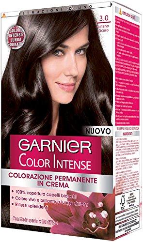 Garnier Garnier Color Intense Colorazione Permanente in Crema, 3.0 Castano Scuro