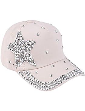Niña Vestido Liquidación,Beikoard Nueva moda gorra de béisbol Rhinestone en forma de estrella, chico chicas Snapback...