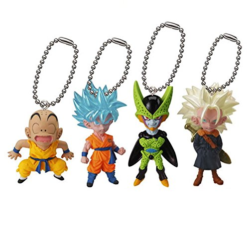 Complete Dragon Ball Set 4 Mini Collection Figures UDM V Jump Selection 01 Dangler Bandai Gashapon Original Dragonball