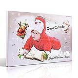 MJARTORIA Damen Schmuck Adventskalender Weihnachtskalender Adventszeit mit 24 Überraschungen Kette Freundschaftskette Armband Charms Anhänger Weihnachten Ohrringe (Baby)