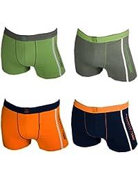 Men's Fashion Lounge Herren Boxershorts 'Remixx MBOX009a', 4er oder 8er Pack schwarz mit farbigen Akzenten, Baumwolle m. Elasthan