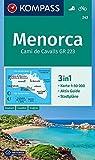 Menorca: 3in1 Wanderkarte 1:50000 mit Aktiv Guide und Stadtplänen. Fahrradfahren.: Wandelkaart 1:50 000 (KOMPASS-Wanderkarten, Band 243) -
