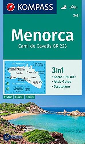 Menorca: 3in1 Wanderkarte 1:50000 mit Aktiv Guide und Stadtplänen. Fahrradfahren. (KOMPASS-Wanderkarten, Band 243) (Cami Band)