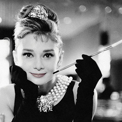 "Audrey Hepburn ""Smile, 40 x 40 cm, Leinwanddruck"