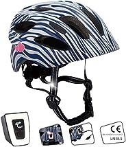 Casco de bicicleta con luz para niños y jóvenes, tamaño 54-58, atractivo casco de bicicleta para niños y niñas