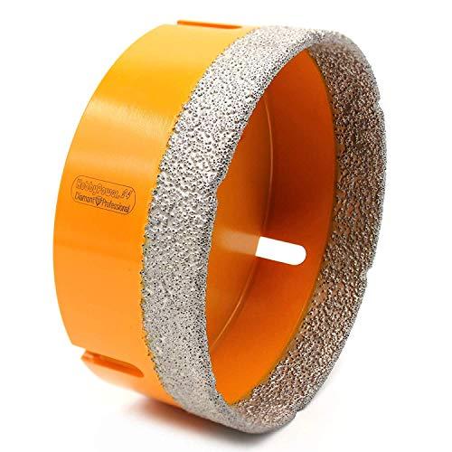 Premium Diamantbohrer 95mm mit M14 Gewinde für Winkelschleifer Flex oder mit Adapter auf 6-Kant für Bohrmaschinen oder Akkuschrauber, geeignet für folgende Materialien wie Granit oder Marmor etc. -
