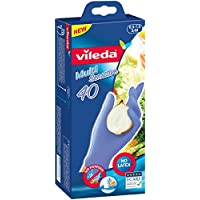 Vileda Multi Sensitive Lot de 2 paquets de 40 gants jetables en nitrile Sans latex Taille S/M