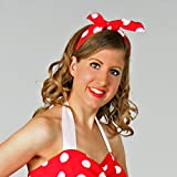 Amakando Ruban de Cheveux Rockabilly - Rouge et Blanc | Bandeau pour Cheveux des années 50 | Coiffe pointée Rockabella | Accessoire tête à Pois