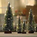 Ecent 5PCS Mini Tanne Weihnachtsbaum deko Baum Tanne künstlicher Weihnachtsbaum für Schaufenster Bürotisch Weihnachtsdekoration - 10+15+20+25+30 cm (Höhe)