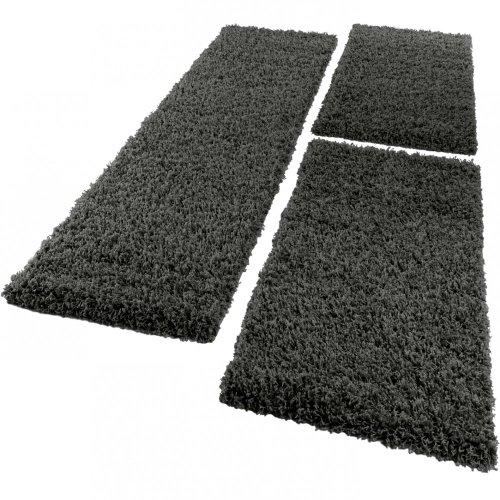 Parure scendiletto set di runner 3 pezzi tappeto shaggy tappeto runner antracite, dimensione:2mal 60x100 1mal 70x250